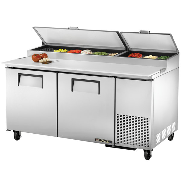 True TPP-67 67 inch Two Door Refrigerated Pizza Prep Table