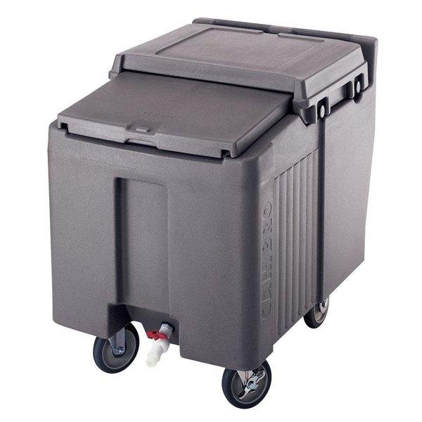 Cambro ICS125L191 Granite Gray Sliding Lid Portable Ice Bin - 125 lb. Capacity