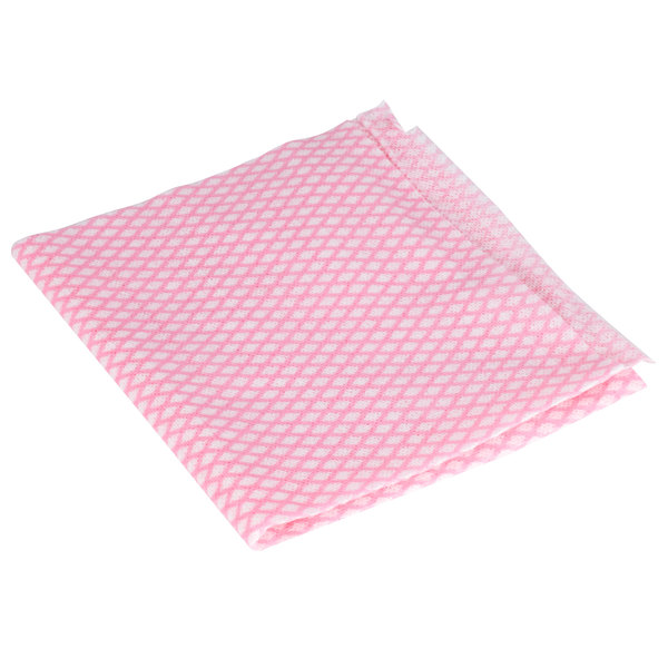 Royal Paper RP11550 13 1/2 inch x 24 inch Pink Light-Duty Foodservice Wiper - 200/Case