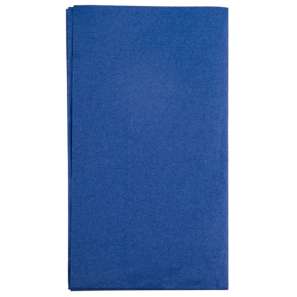 Hoffmaster 180522 Navy Blue 15 inch x 17 inch Paper Dinner Napkins 2-Ply - 1000 / Case