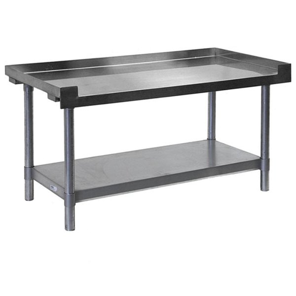 APW Wyott SSS-48L 16 Gauge Stainless Steel 48 inch x 24 inch Medium Duty Cookline Equipment Stand with Galvanized Undershelf