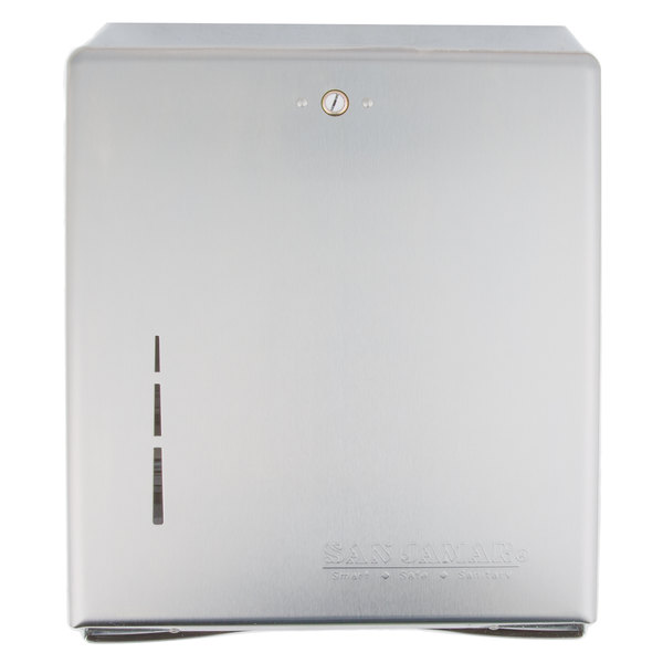 San Jamar T1900SS Stainless Steel C-Fold / Multi-Fold Towel Dispenser