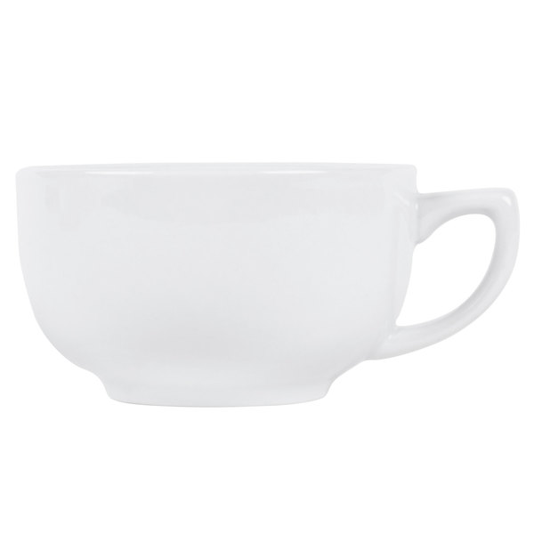 CAC RCN-56 Clinton 14 oz. Super White Porcelain Cappuccino Cup - 36/Case