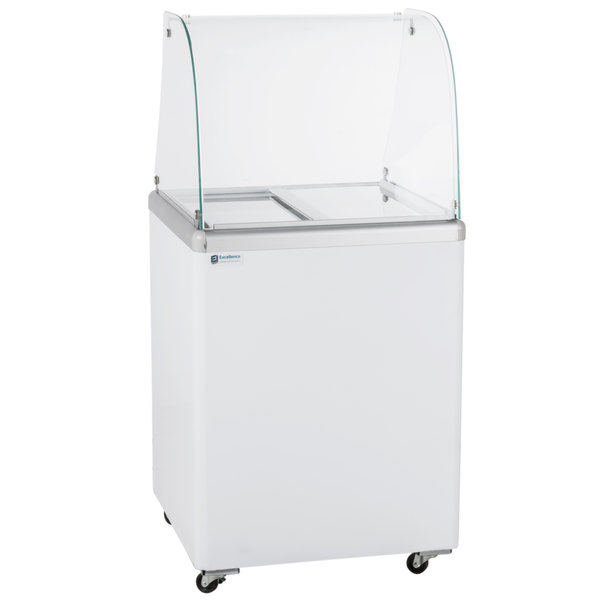 Excellence EDC-4C 25 inch Curved Glass Ice Cream Dipping Cabinet
