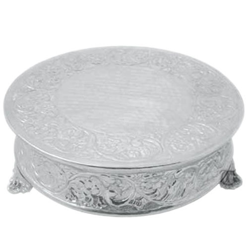 Tabletop Classics AC-88516 16 inch Ornate Nickel Plated Round Cake Stand