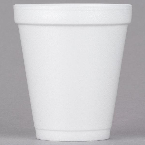 Dart Solo 8J8 8 oz. Customizable White Foam Cup - 1000/Case