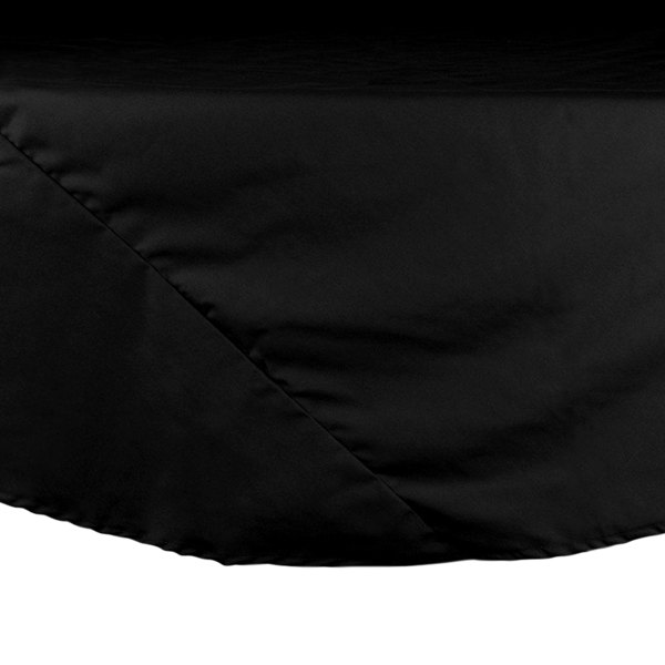 120 inch Black Round Hemmed Polyspun Cloth Table Cover