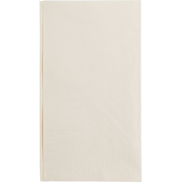 Choice 15 inch x 17 inch Customizable Ecru / Ivory 2-Ply Paper Dinner Napkins - 1000 / Case