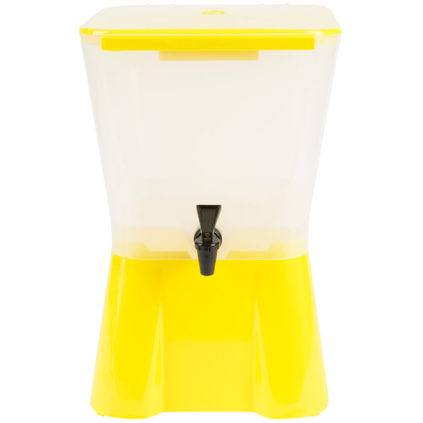Tablecraft 955 3 Gallon Yellow Beverage / Juice Dispenser