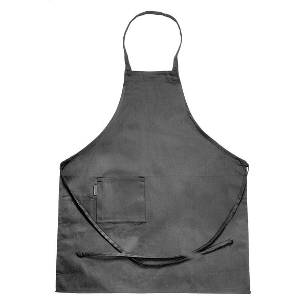 Chef Revival 601BAC-BK Customizable Full-Length Black Bib Apron - 30 inchL x 34 inchW