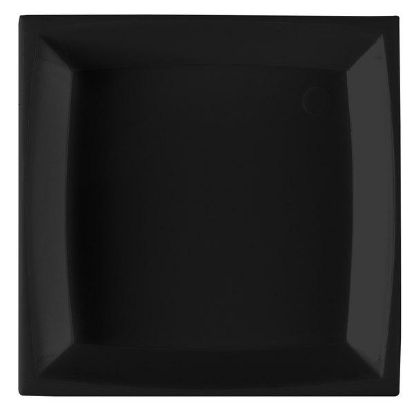 WNA Comet APTSQ25 Petites 2 1/2 inch Black Square Dish 200 / Case
