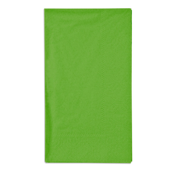 Fresh Lime Green Paper Dinner Napkins, 2-Ply, 15 inch x 17 inch - Hoffmaster 180561 - 1000/Case