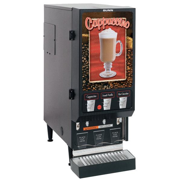 Bunn 29250.0000 FMD-3 DBC BLK Hot Beverage Dispenser with 3 Hoppers - 120V