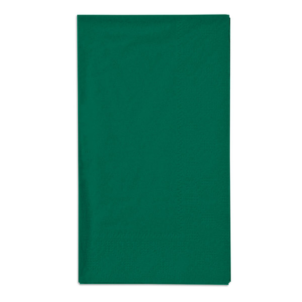 Hoffmaster 180537 Hunter Green 15 inch x 17 inch Paper Dinner Napkins 2-Ply - 125 / Pack