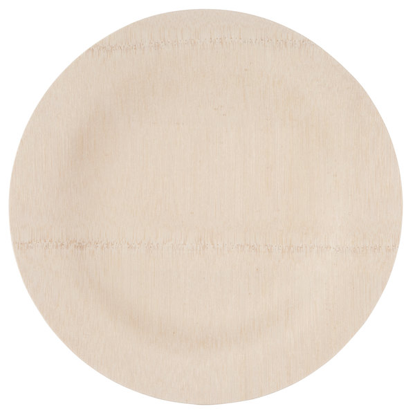 Bambu 060800 11 inch Disposable Bamboo Plate - 25 / Pack