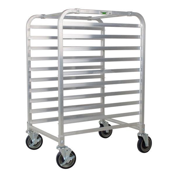 Regency 10 Pan End Load Half Height Bun / Sheet Pan Rack - Unassembled