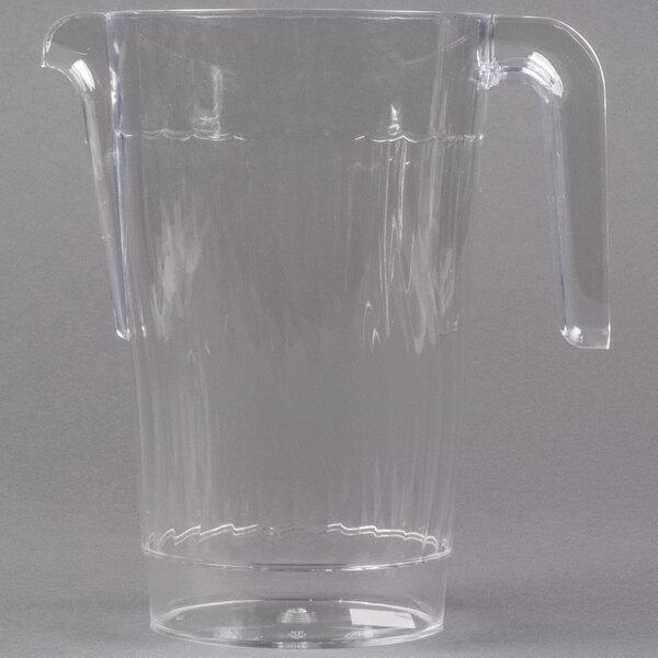 Fineline Platter Pleasers 3401-CL 50 oz. Clear Plastic Pitcher - 50 / Case