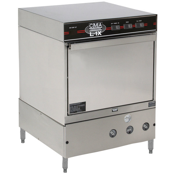 CMA Dishmachines L-1X Undercounter Dishwasher Low Temperature 30 Racks / Hour