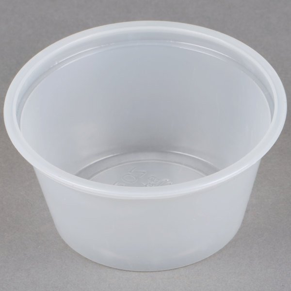 Choice 2 oz. Plastic Souffle Cup / Portion Cup - 2500/Case