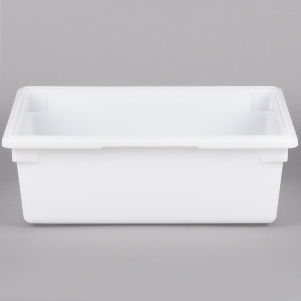 Cambro 18269P148 18 inch x 26 inch x 9 inch White Poly Food Storage Box