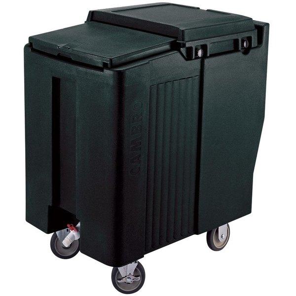Cambro ICS175T110 Black Sliding Lid Portable Ice Bin - 175 lb. Capacity Tall Model