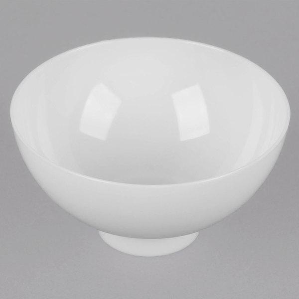 Fineline Tiny Temptations 6208-WH 2 oz. White Plastic Tiny Bowl - 200/Case