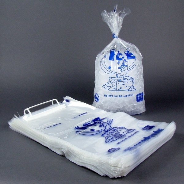 20 lb. Ice Bag - Wicketed with Handle 500/Case