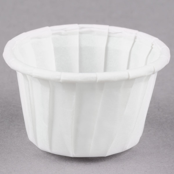 Dart Solo SCC050 .5 oz. White Paper Souffle / Portion Cups - 250/Pack