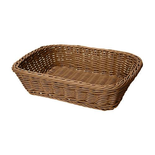 GET WB-1508-H 11 1/2 inch x 8 1/2 inch x 2 3/4 inch Designer Polyweave Honey Rectangular Basket - 12 / Case