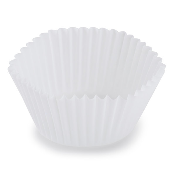Hoffmaster 610031 1 7/8 inch x 1 5/16 inch White Fluted Baking Cup - 10000/Case