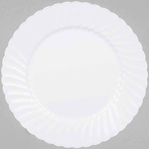 WNA Comet CW75180W Classicware 7 1/2 inch White Plastic Plate - 180/Case
