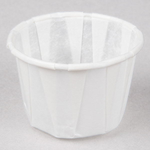 Genpak F100 1 oz. Harvest Paper Souffle / Portion Cup 250 / Box
