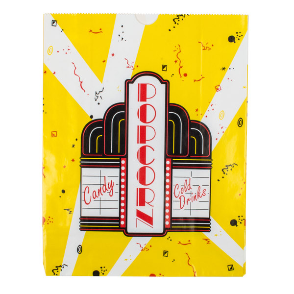 Dart Solo PB13PC-00059 130 oz. Premier Popcorn Bag - 500/Case