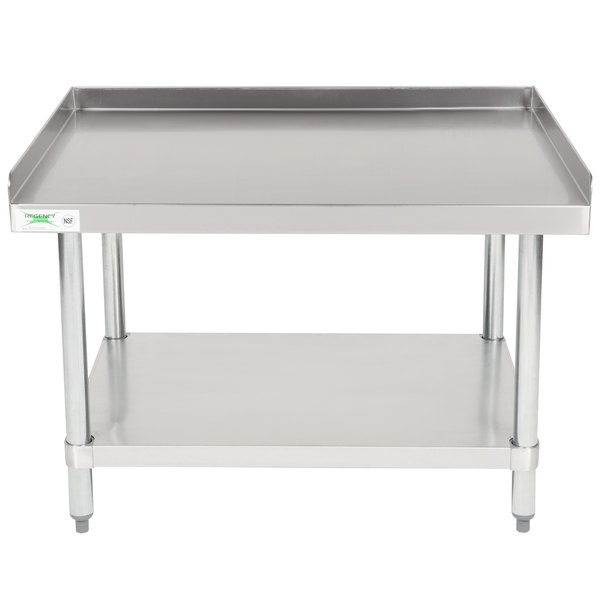 Regency 30 inch x 36 inch 16-Gauge Stainless Steel Equipment Stand with Galvanized Undershelf
