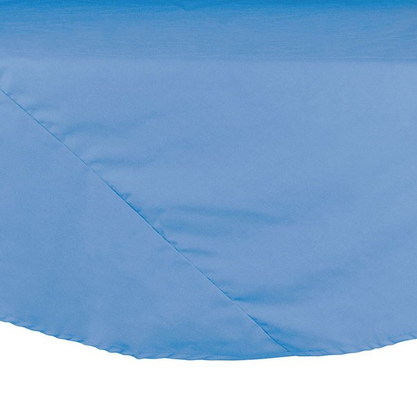 72 inch Light Blue Round Hemmed Polyspun Cloth Table Cover