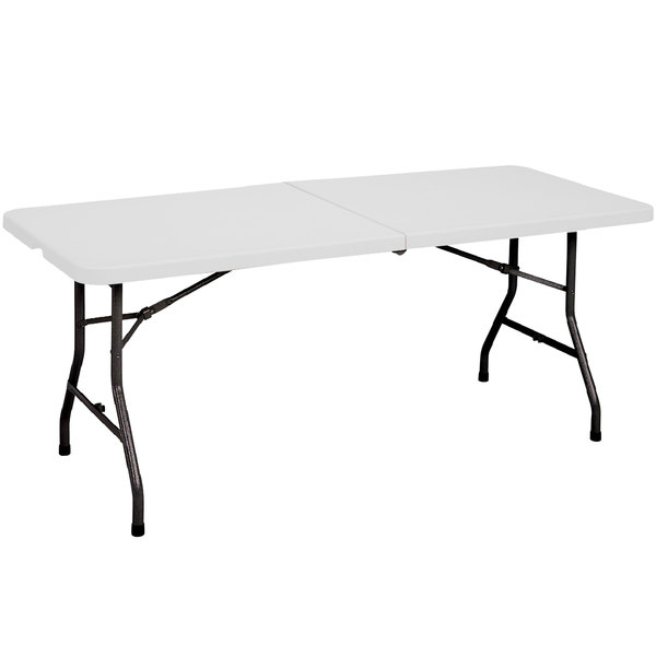 Correll Fold in Half Table, 30 inch x 72 inch Plastic, Granite Gray - CP3072FM