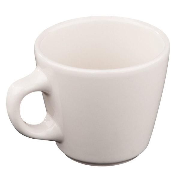 Homer Laughlin 10700 6.75 oz. Ivory (American White) Rolled Edge Virginia China Tea Cup - 36/Case