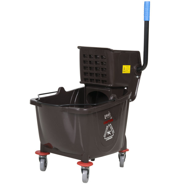 Lavex Janitorial 36 Qt. Brown Mop Bucket & Wringer Combo