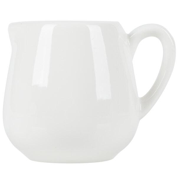 American Metalcraft PCR1 1 oz. White Porcelain Creamer