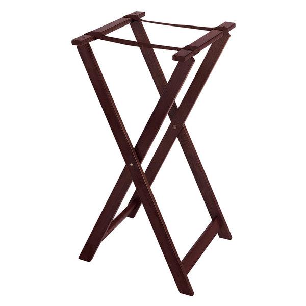 GET TSW-103 Folding Mahogany 31 1/2 inch Wood Tray Stand