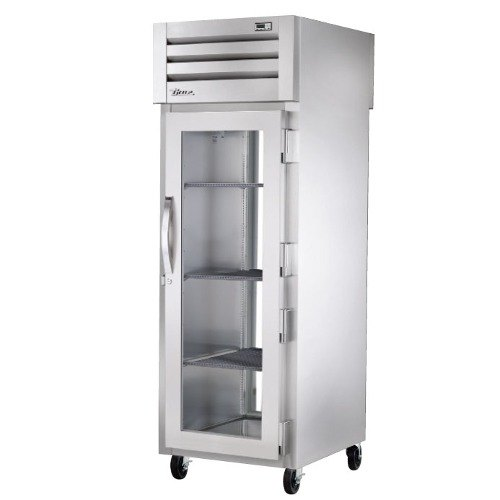 True STG1RPT-1G-1G Specification Series Pass-Through Two Glass Door Refrigerator - 31 Cu. Ft.