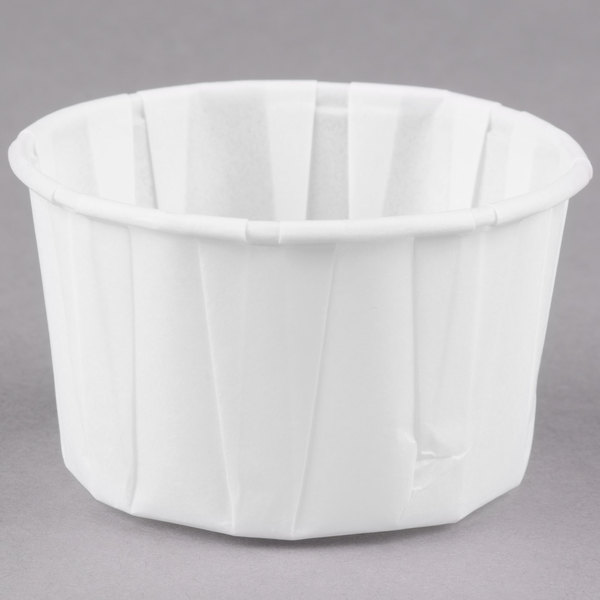 Dart Solo 325 3.25 oz. White Paper Souffle / Portion Cup - 250/Pack