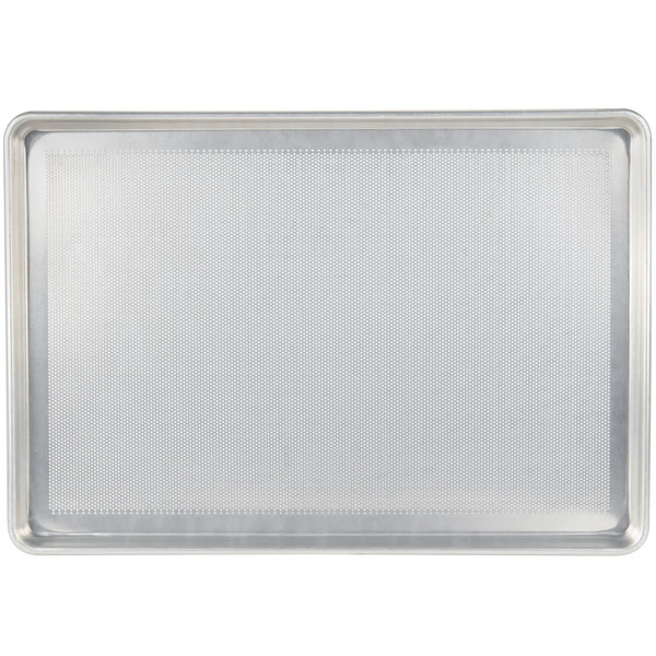 Chicago Metallic 44890 Perforated Full Size 18 Gauge Aluminum Sheet Pan - Wire in Rim, 18 inch x 26 inch