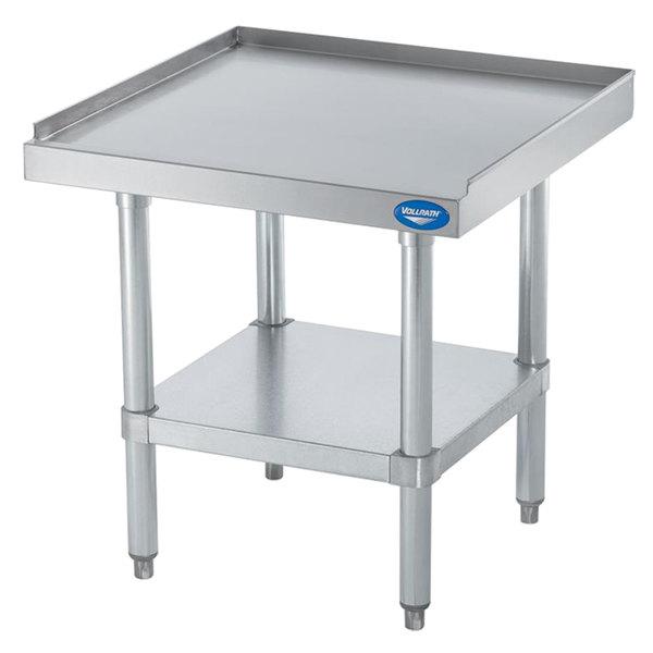 Vollrath 40740 24 inch x 24 inch Stainless Steel Medium Duty Equipment Stand with Galvanized Undershelf