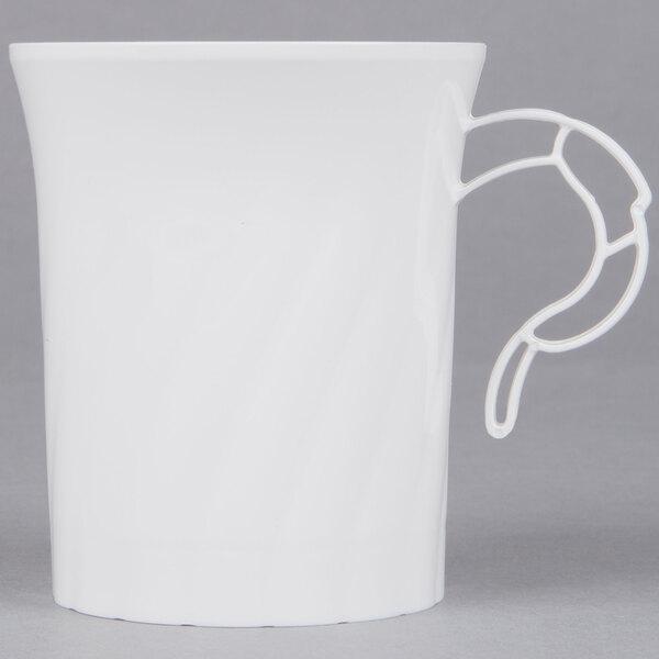 WNA Comet CWM8192W Classicware 8 oz. White Plastic Coffee Cup  - 192/Case