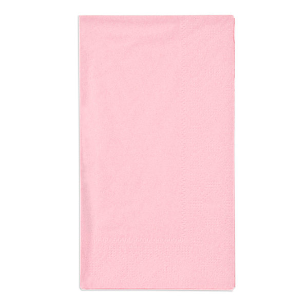 Hoffmaster 180527 Pink 15 inch x 17 inch Paper Dinner Napkins 2-Ply - 1000/Case