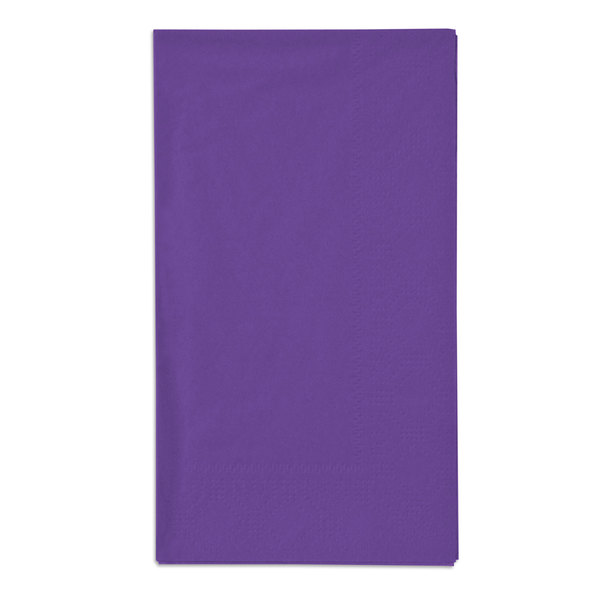 Hoffmaster 180539 Purple 15 inch x 17 inch Paper Dinner Napkins 2-Ply - 125 / Pack