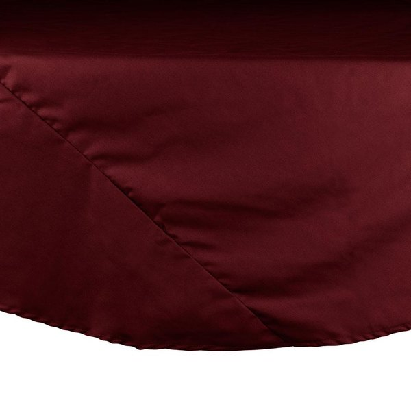 72 inch Burgundy Round Hemmed Polyspun Cloth Table Cover
