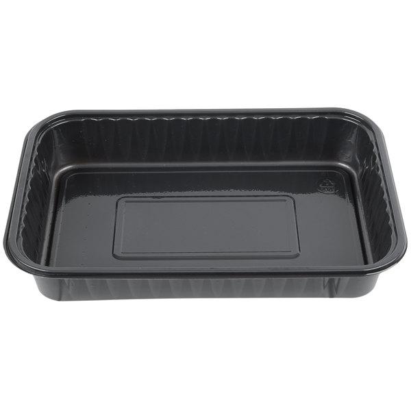Genpak 55357 Bake 'N Show Dual Ovenable 6 inch x 8 1/2 inch x 1 1/2 inch Brownie / Cake Pan - 250/Case