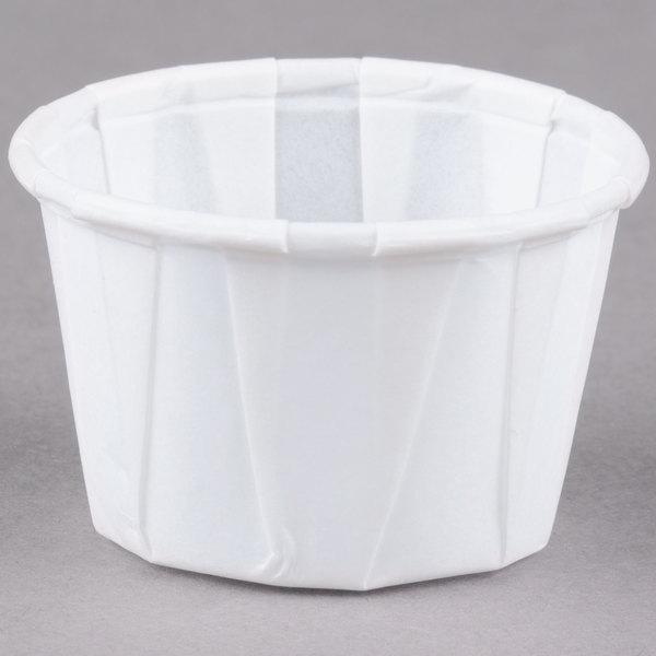 Dart Solo SCC100 1 oz. White Paper Souffle / Portion Cup 5000/Case